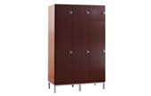Three door wardrobe with drawer