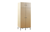 Four door wardrobe with drawer